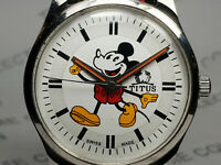 Vintage Titus Mickey Mouse Dial Mechanical Handwinding Mens Wrist Watch VG15