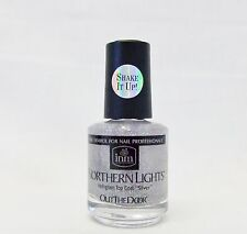 Inm Nail Out The Door Northern Lights SILVER Top Coat .5oz/15mL - Fine Glitter