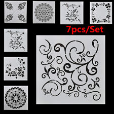 7 x Craft Embossing Template Wall Painting Layering Stencils DIY Scrapbooking