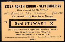CANADA = 1963 Municipal Elections PTPO Postcard. (a)