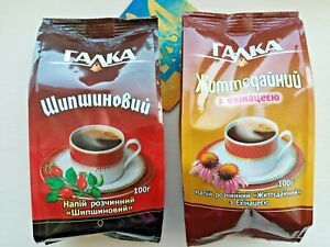 Barley Chicory Coffee rosehip and echinacea SET 2x100g caffeine free drink Галка
