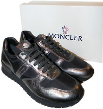 "MONCLER ""Montego' Metallic Leather Lace Up Sneaker Active Shoes 41 -8 US"