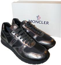 "Moncler "" Montego' Metallisch Leder Schnürbar Sneaker Active Schuhe 41 -8 Us"