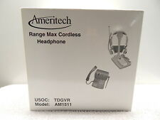 NEW IN FACTORY BOX AMERITECH RANGE MAX CORDLESS HEADPHONE TELEPHONE AM1511 TDGVR