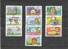 FRANCE 2008.SOURIRES.LE CHAT GARFIELD.SERIE COMPLETE DE 10 TIMBRES AA OBLITERES