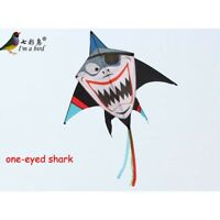 NEW 63-In Pirate Shark Kite one-eyed single line Delta kites surfing with handle