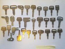30 Heavy Equipment Key Set Construction Ignition Key Set Kubota Cat Bobca Deere