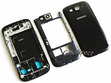 Genuine OEM Samsung Galaxy S3 i9300 Complete Full Housing Cover Frame Door Black
