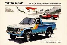 Old Print.  1981 Toyota Trucks & 4WD