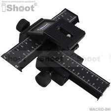4-way Macro Focusing Rail Slider Tripod Bracket for Sony Nikon Camera+Lens+Flash