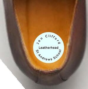 48 Waterproof polyester SHOE Name Labels School Name Tags ROUND 30 MM DIAMETER