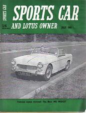 Sports CAR + LOTUS proprietario 7/61 OGLE MG Midget PEGASUS Ferguson Triumph Herald +