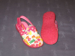 NWOB Stride Rite LOLLI CLOG / HOT PINK / MULTI