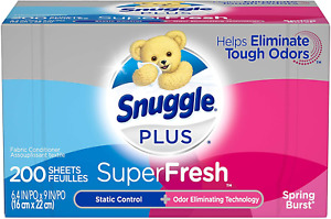 Snuggle Plus SuperFresh Fabric Softener Washing Dryer Sheets with Static Control