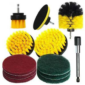 12 Pieces Drill Brush Attachments Set Cleaning Brush Power Scrubber Cleaning Kit