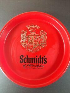 Schmidt's Beer Vintage Hard Plastic Philadelphia Beer Serving Tray Red 13 inches