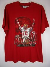 Vintage Lee Joe Montana San Francisco T-Shirt Football NFL A 49er For All Time