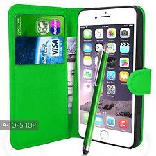 Vert étui porte-feuille Cuir PU Livre coque pour Apple iPhone 7