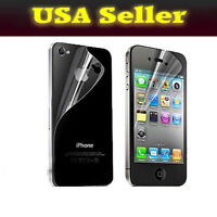 Front & Back Clear Screen Cover Protector Film for Apple iPhone i Phone 4 4s 4G