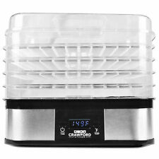 New Digital Portable Dehydrator Food Fruit Jerky Dryer Tray Blower Stainless U