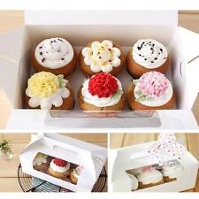 6-Hole White Paper Muffin Cupcake Container Box Birthday Party Packing Holders