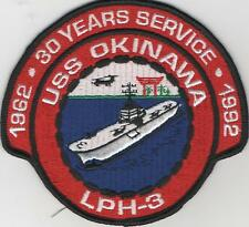 USS OKINAWA 30 YEARS SERVICE Embroidered Patch  5 inch across