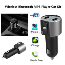 Handsfree Wireless Bluetooth Car FM Transmitter Radio Music Player USB Charger u