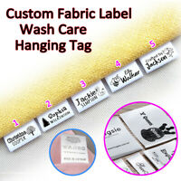 Custom Clothes Tags LOGO Name Sew In Hanging Tag Garment Bag Hat Handmade Label