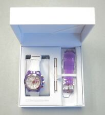 TechnoMarine Watch Cruise Beach Chronograph Purple Flower Silicone NEW! 31893