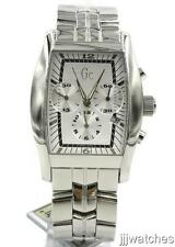 New Guess Men Swiss Made Steel Chrono Date Watch 38mm x 50mm GC36501G1 $379