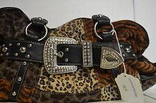Girls Night Out Purse-NEW-designer purse 12 x 17 crushed velvet-Leopard look