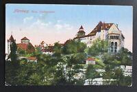 "AK Litho ""Nürnberg Burg Nordwestseite"" gestempelt/o 1928"