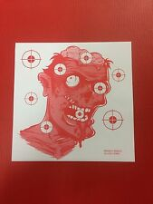 100 x 14cm PAPER Red Colour ZOMBIE Top Quality Rifle Pistol Shooting Targets