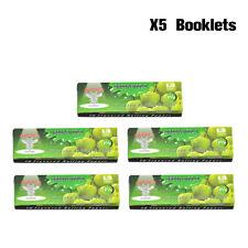 5 Booklets HORNET GREENAPPLE Fruit Flavored 1 1/4 Size Cigarette Rolling Paper
