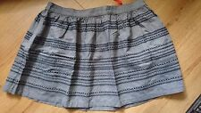 Womens Superdry Stitch-Skater Skirt Dark Chambray - Size XL - New With Tags!!