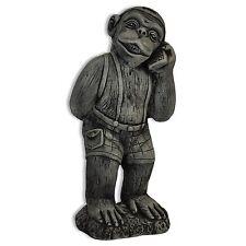 Stuatuette Singe au téléphone, nain décoration de jardin Thaïlande (10260)