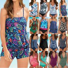 Women Tankini Set Boy Shorts Bikini Swimsuit Summer Bathing Suit Swimwear Beach