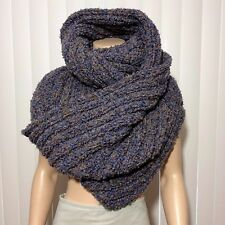 Handmade Knitted Infinity Scarf Wrap With Matching Head Band Ear Warmer Set