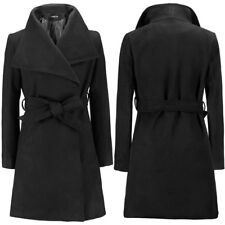 Womens Winter Warm Wool Lapel Long Coat Trench Parka Jacket Overcoat Outwear
