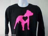 PitBull Heart Womens Long Sleeve T-Shirt