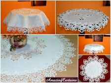 Unbranded Lace Round Tablecloths