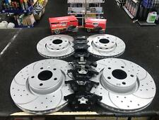 AUDI A6 A8 S8 C6 4F D3 QUATTRO DRILLED GROOVED FRONT REAR BRAKE DISCS AND PADS