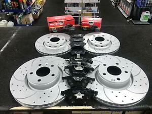 FOR AUDI A4 S4 QUATTRO B6 B7 8E 8H FRONT REAR DRILLED GROOVED BRAKE DISCS & PADS