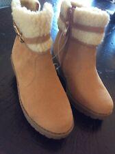 NWT Michael Kors Girls Sz 1 Fur Boots