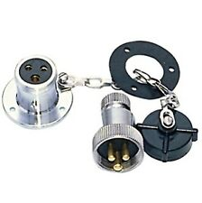 12 V IMPERMEABLE 3 Polos Plug & Socket Cubiertas Uso Marino 14.187.03 - 1418703