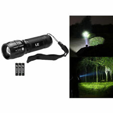 LE Adjustable Focus LED Torch,Super Bright Zoomable LED Flashlight+Batteries