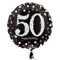Black & Gold Celebration 50th Birthday Balloon Birthday Party Decorations