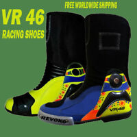 VR46 Valentino Rossi 2016 Motorcycle Motogp Motorbike Racing Leather Boots Shoes