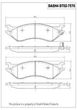 Disc Brake Pad Set-SEMI METALLIC PADS Front,Rear Dash 4 Brake MD702
