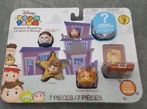 NEW Jakks Pacific Disney Tsum Tsum Toy Story Woody's Round Up 7-Piece Vinyl Pack